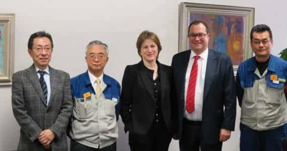 Nippon Electric Glass (NEG) : Masatoshi Shiotani San - Sumio Oshita San - Valérie Chevreul - Pierre- Marie Lemer - Seiichi Osako San