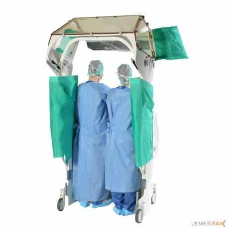 Cathpax® CRM Double : cabine de radioprotection pour 2 personnes, vue arrière