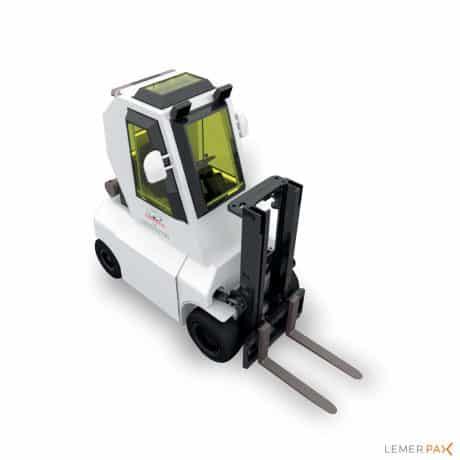 Chariot élévateur blindé électrique avec hublots de vision en verre au plomb