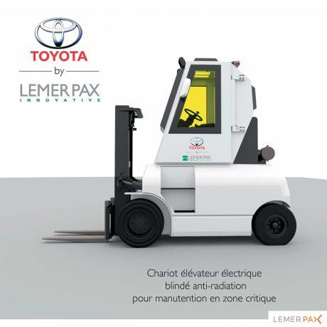 Chariot élévateur blindé électrique étudié pour la radioprotection