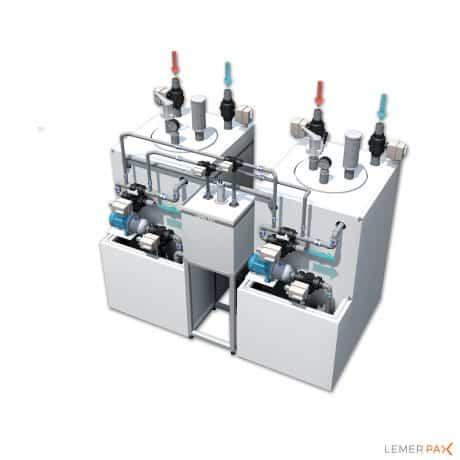 EasyRADWATER® : une chambre d'ionisation en aluminium, un préamplificateur, une cuve de mesure et une auto-pompe