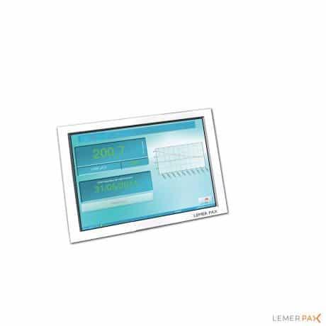 Le système easyRADWATER® connecté à un écran tactile, à un PC durci Posibox® et au logiciel easyRADWATER®