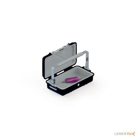 Valisette blindée de transport easyBOX et protège seringue easySQUEEZE