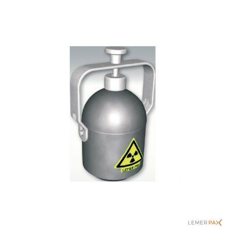Conteneur tungstène monodose pour transport de FDG