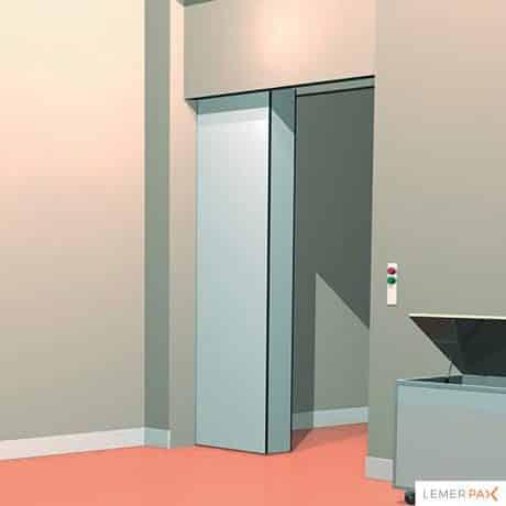 Portes de bunker de radiothérapie : porte blindée coulissante
