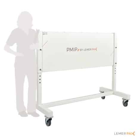 Mobile radiation protection screen