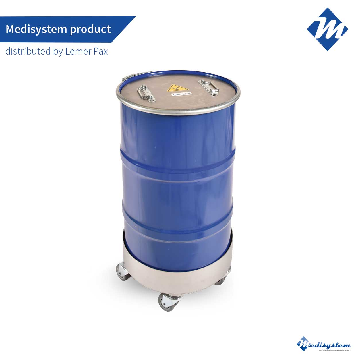 shielded drum for storage - low and medium energy