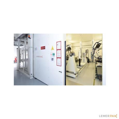 Création et modernisation de salle blindée - Contrôle Non-Destructif - Lemer Pax